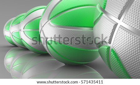 Basketball Background. 3D illustration. 3D CG. High resolution. #571435411