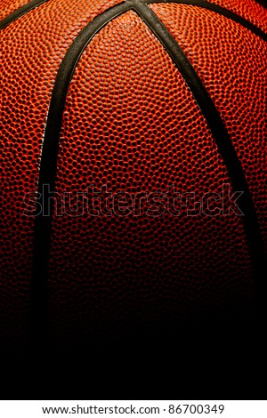 Basketball background with fade to black