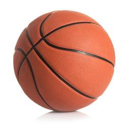 Basketball ball against white background