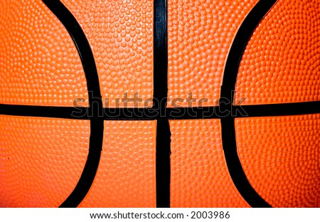 basketball ball close up - good for a textured background