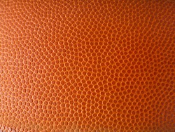 Basketball ball detail leather surface texture background