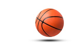 Basketball ball isolated on white background. clipping path.