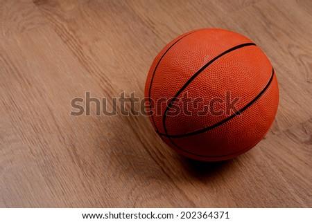 Basketball ball on floor