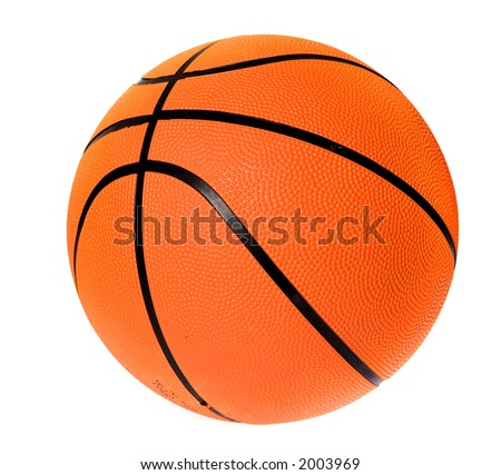 basketball ball over a white background