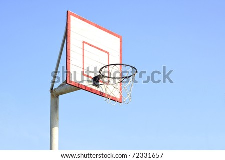 Basketball board in playground