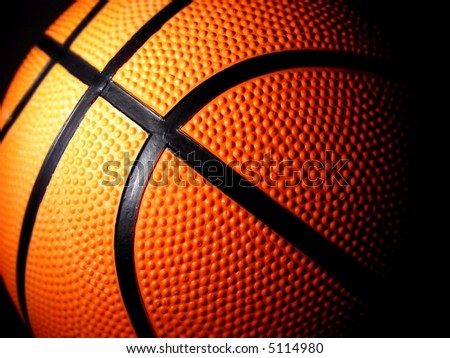basketball close-up shot