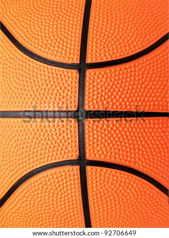 basketball close-up shot or texture - stock photo