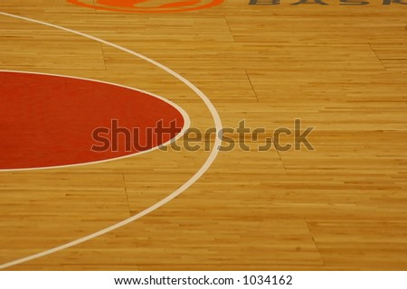 basketball court clipart. stock photo : Basketball court