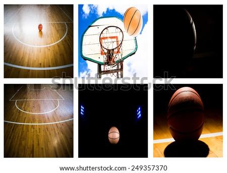 Basketball court floor as a sports