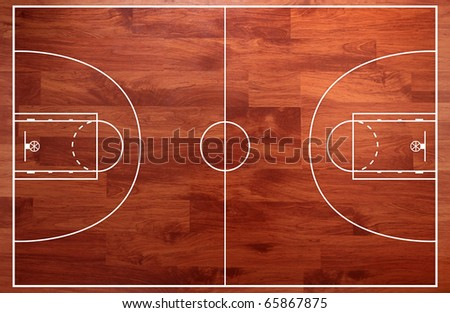 Basketball Gym Floor Plans http://www.shutterstock.com/pic-65867875/stock-photo-basketball-court-floor-plan-on-parquet-background.html