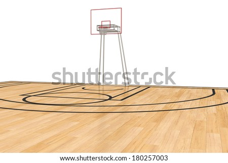 Basketball court on a white background. #5