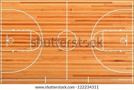 Basketball court, parquet