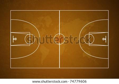 Basketball field texture