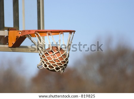 basketball game outdoor ball right in the basket