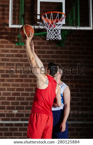 basketball game sport multinational player in action