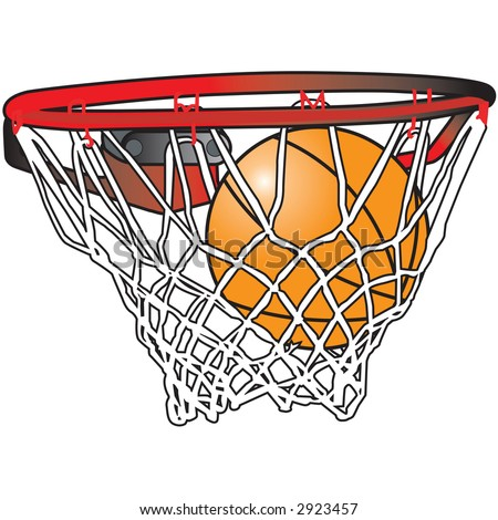 stock photo : basketball hoop