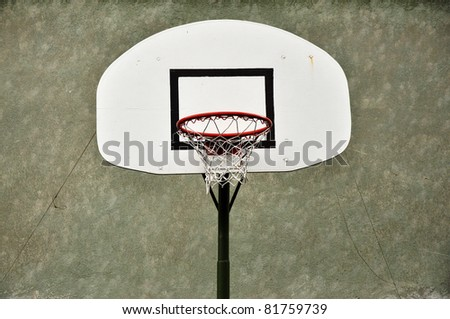 basketball hoop and a cage, sports background.