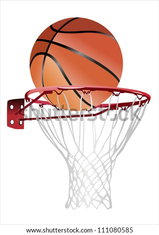 basketball hoop and ball (basketball hoop with basketball, basketball and hoop)