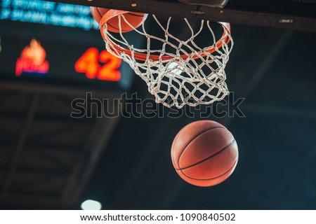 Basketball hoop, basketball scoring in the stadium #1090840502