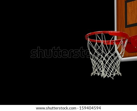 Basketball Hoop over Black