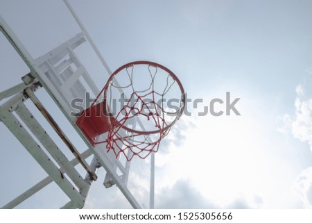 Basketball hoops in the morning #1525305656