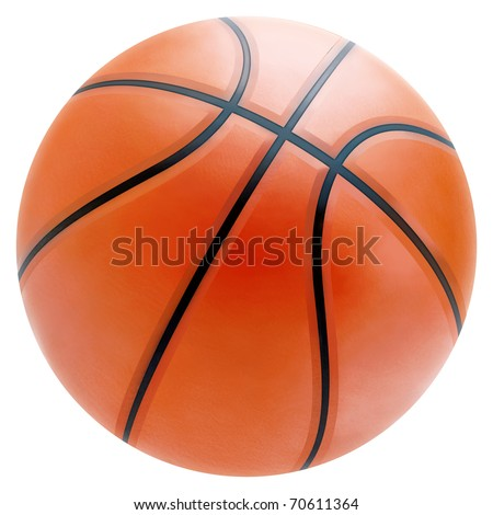 Basketball in a white Background