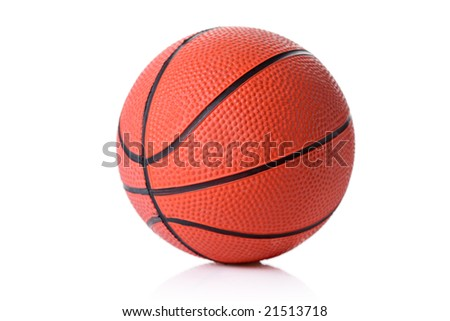 Basketball isolated against white background