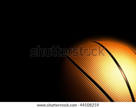 Basketball isolated black color