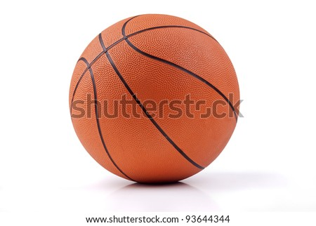 basketball isolated in white background