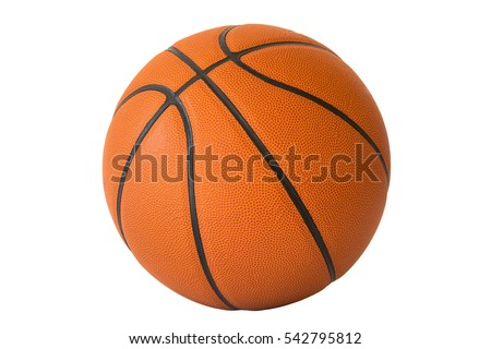 Photo of  Basketball isolated on a white background