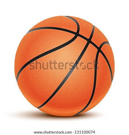 Basketball isolated on a white background. Fitness symbol - stock photo