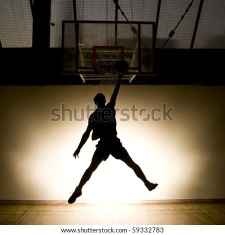 Basketball jump - stock photo