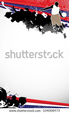Basketball jump background with space (poster, web, leaflet, magazine)
