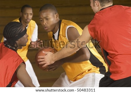 Basketball match, (close-up)