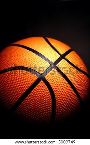 basketball on a dark background - stock photo