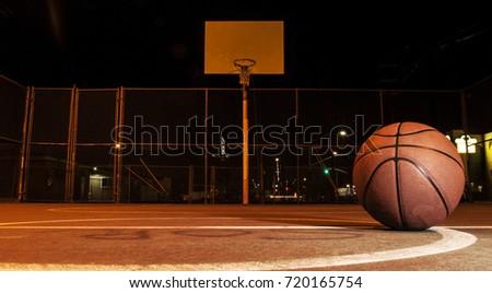 Basketball on court #720165754
