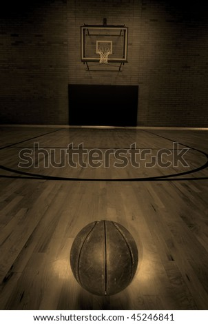 basketball court floor. of empty asketball court