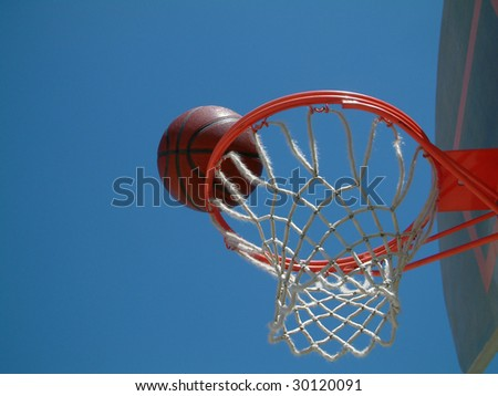 Basketball on the rim
