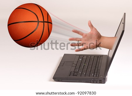 Basketball out of the Computer Screen.
