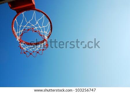 basketball outdoor court sport game blue sky background design