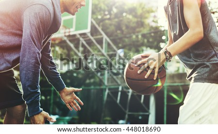 Basketball Player Athlete Exercise Sport Stadium Concept #448018690