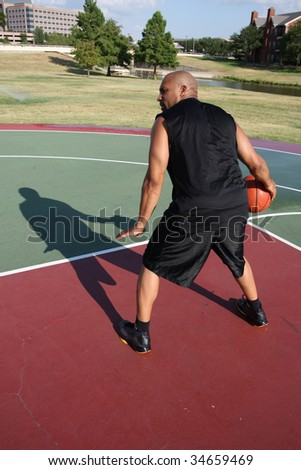 Basketball player in the post