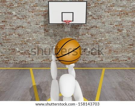 Basketball player shooting  the ball , street  basketball,Urban basketball court