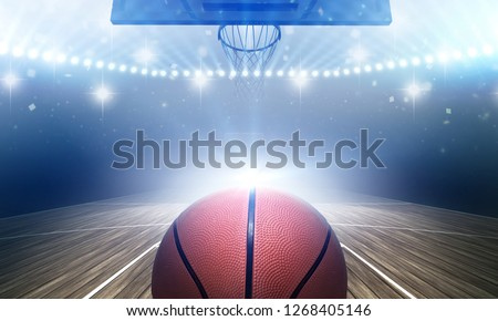 Basketball stadium 3d rendering