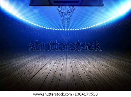 basketball stadium 3d rendering (composition and stadium is the imaginary)