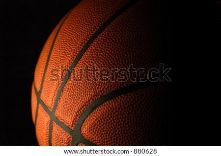 Basketball textures highlighted on black