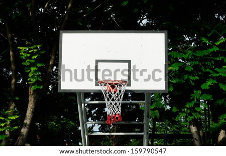 Basketball training field and shooting practice or relax