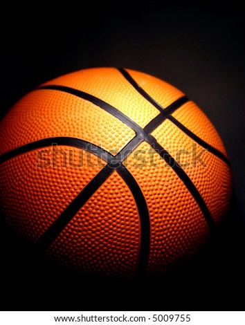 basketball with a dark background