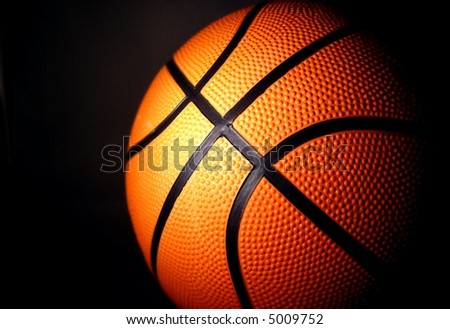 basketball with dark background horizontal