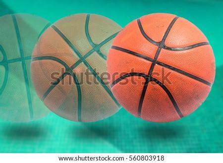 basketballs on background